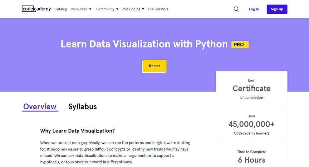 Learn Data Visualization with Python
