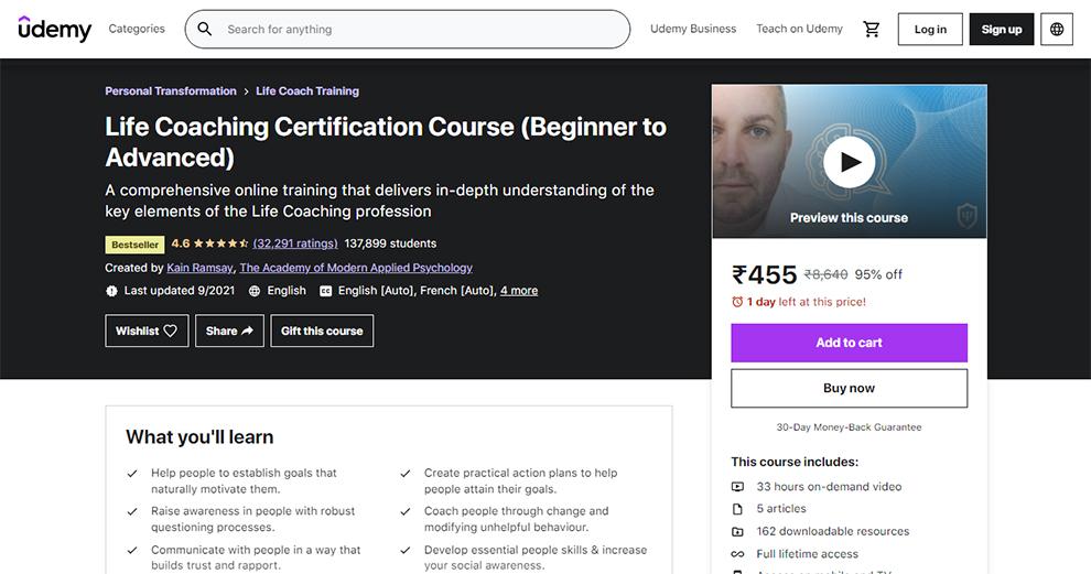 Life Coaching Certification Course