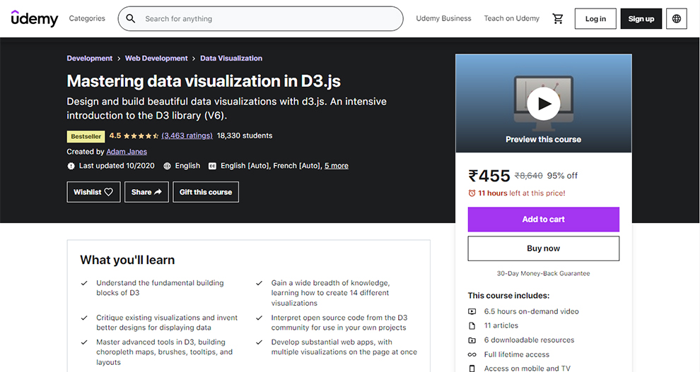Mastering data visualization in D3.js