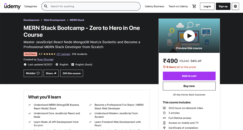 MERN Stack Bootcamp - Zero to Hero in One Course