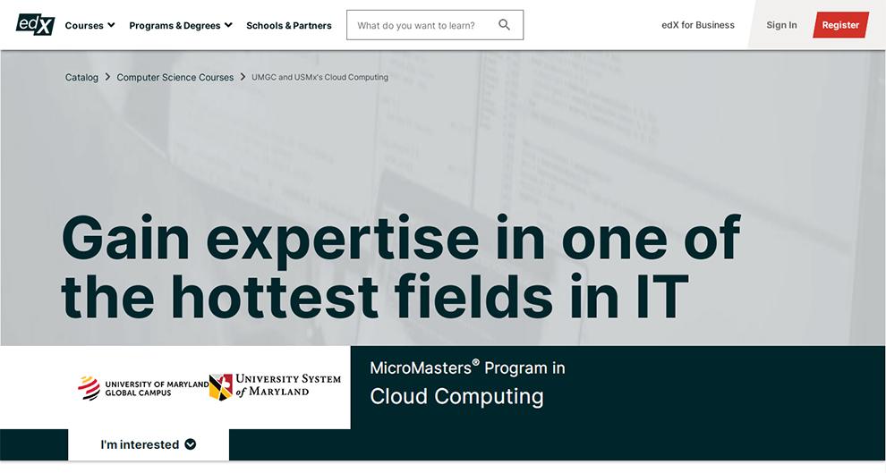 MicroMasters® Program in Cloud Computing