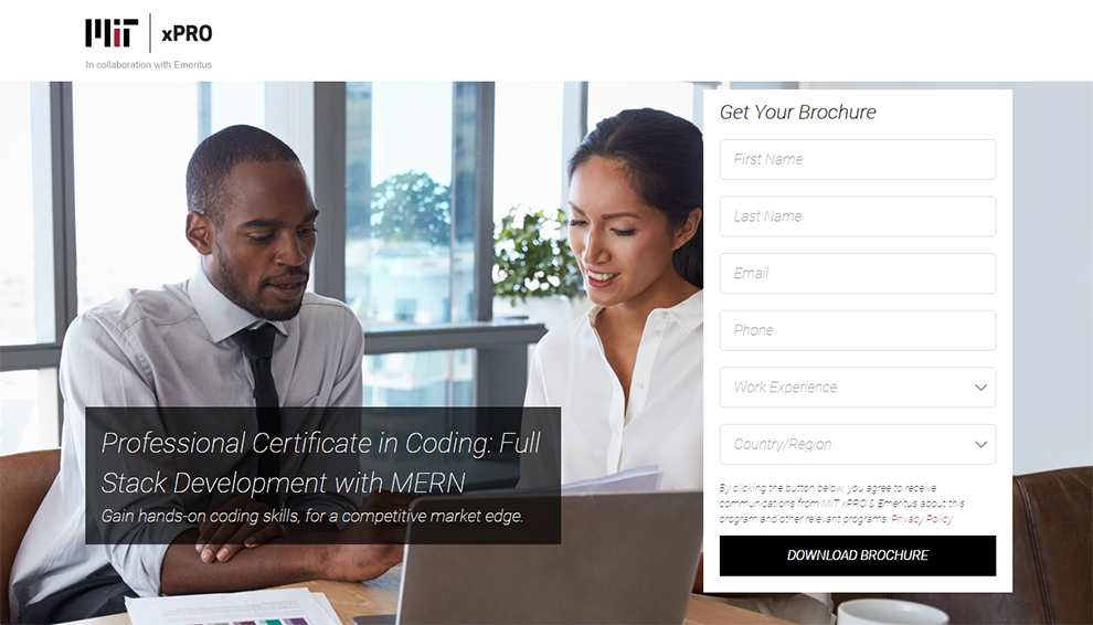 Professional Certificate in Coding: Full Stack Development with MERN – In Collaboration With Emeritus