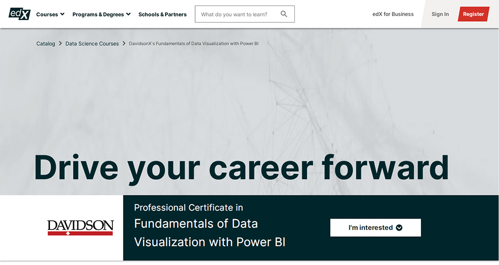 Professional Certificate in Fundamentals of Data Visualization with Power BI – Offered by Davidson