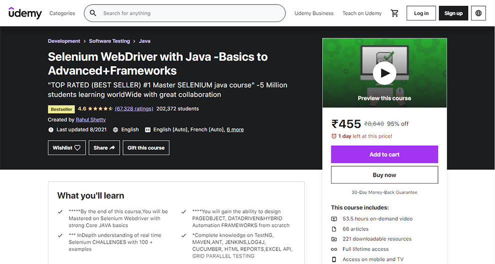 Selenium WebDriver with Java -Basics to Advanced+Frameworks