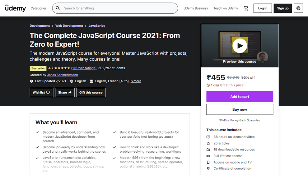 The Complete JavaScript Course 2021