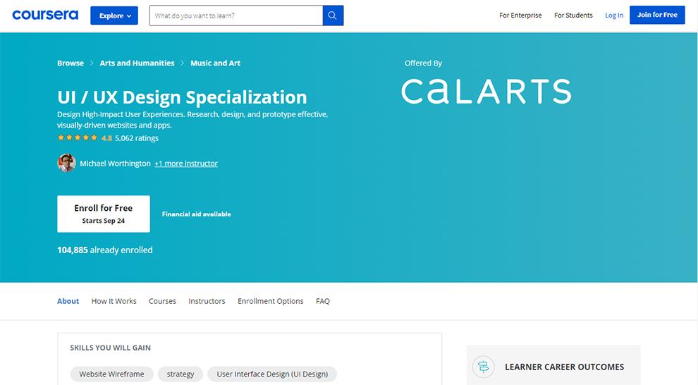 UI/UX Design Specialization by CaLARTS