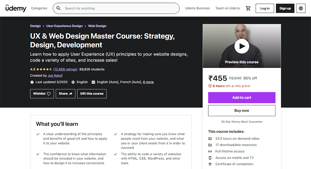 UX and Web Design Master Course: Strategy, Design and Development
