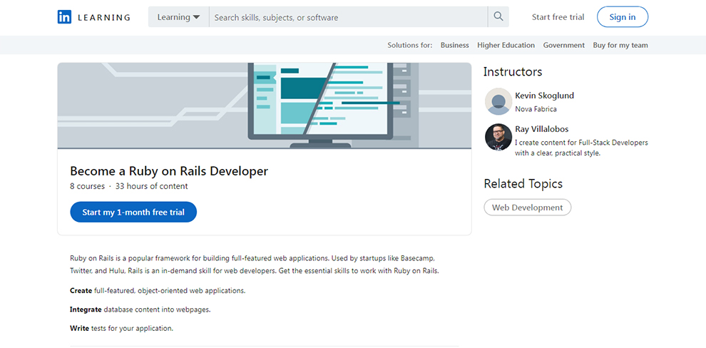 Become a Ruby on Rails Developer