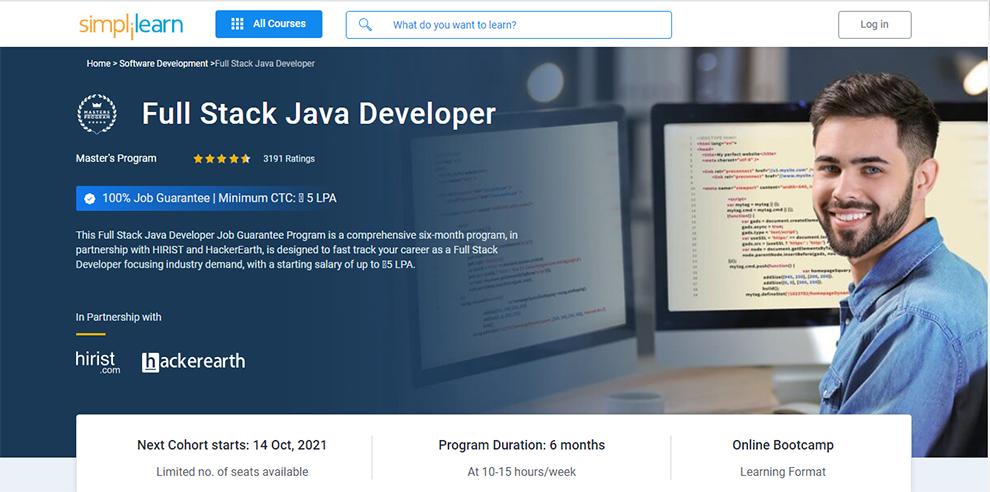 Full Stack Java Developer (Master's Program)
