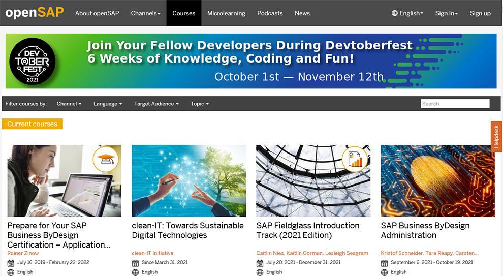 Open SAP Courses