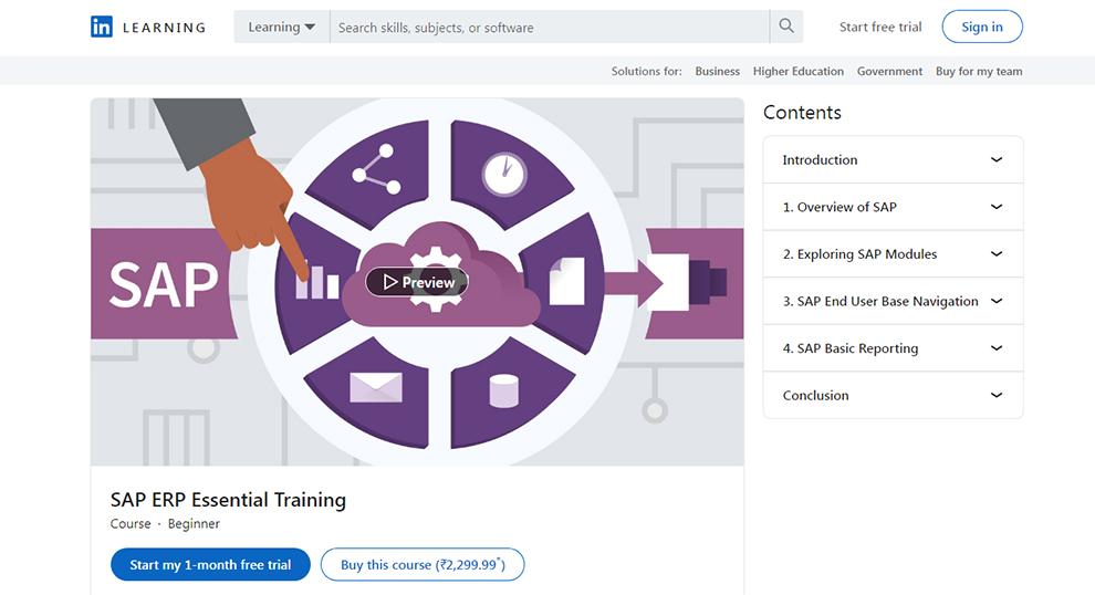 SAP ERP Essential Training